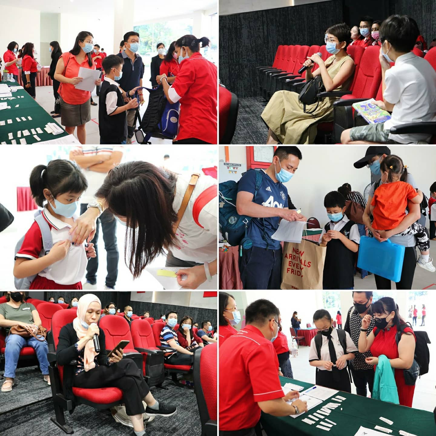 International School KL students interacting with their parents on orientation day