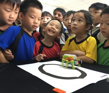 International School KL primary school students learning about robotics