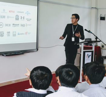 International School KL students attending a sharing session conducted by a successful entrepreneur